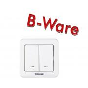 TKB Home Wanddimmer mit Zweifach-Wippe (Abgerundete Ecken)