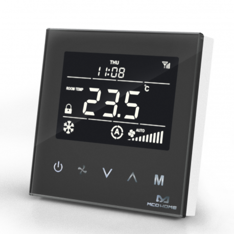 MCO Home - Fan Coil Thermostat (4 Leitungsrohre) Black Edition